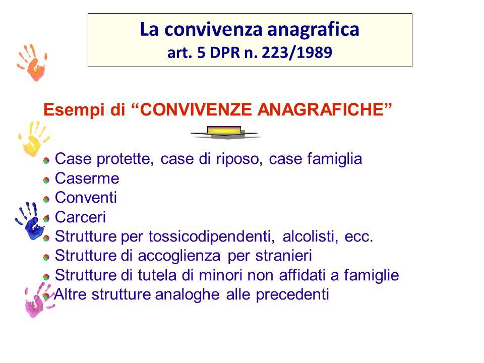 La convivenza anagrafica