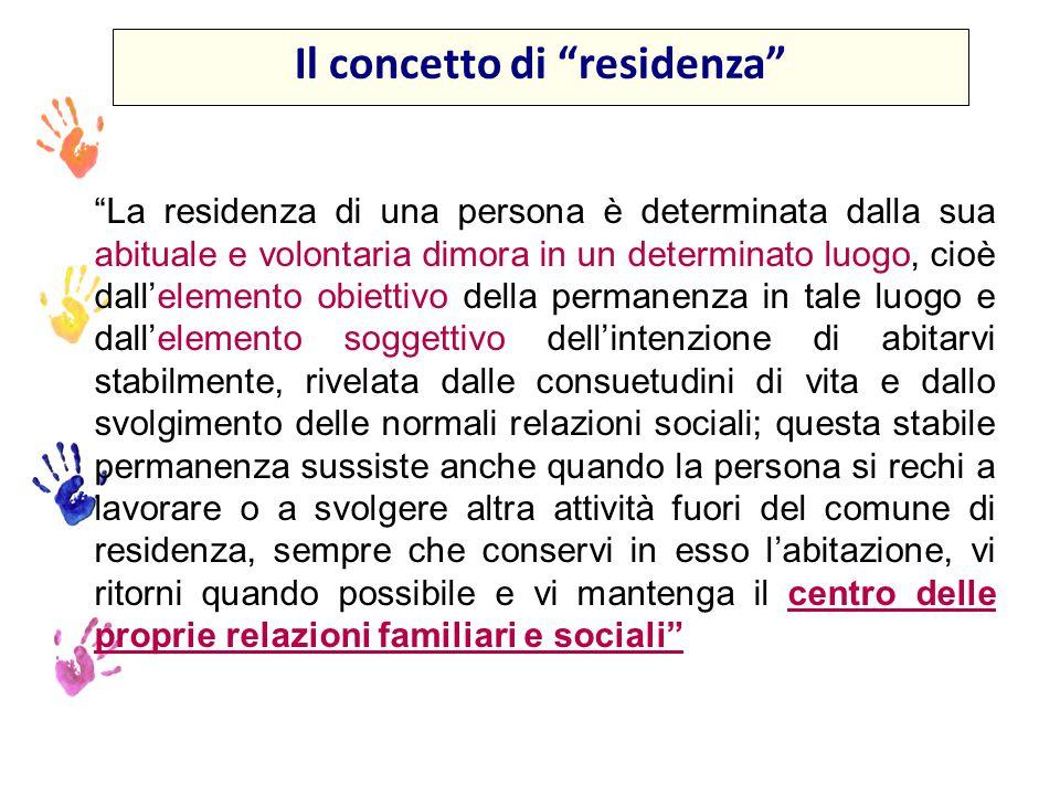 Il concetto di residenza