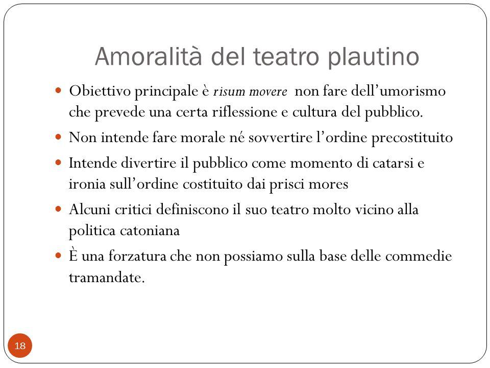 Amoralità del teatro plautino