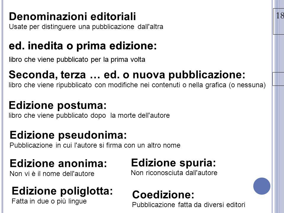 Denominazioni editoriali