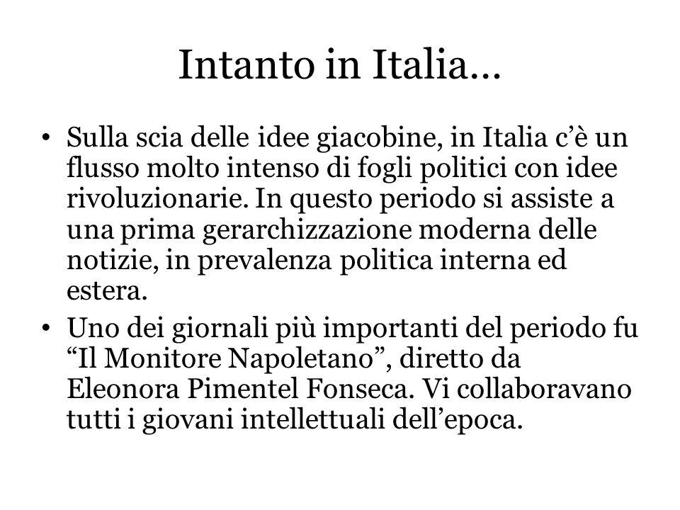 Intanto in Italia…