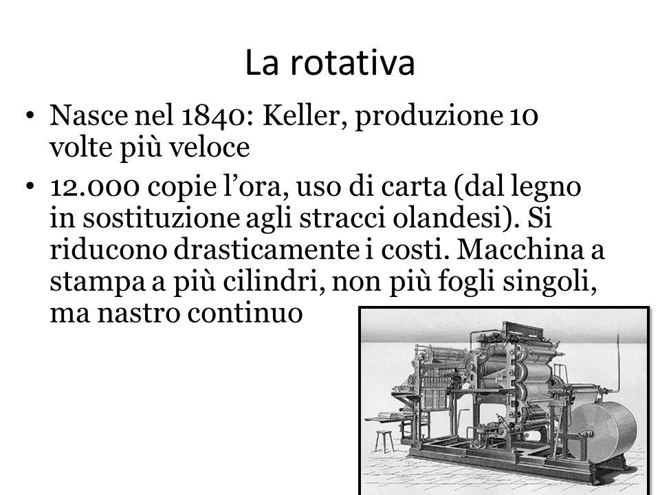La rotativa Nasce nel 1840: Keller, produzione 10 volte più veloce