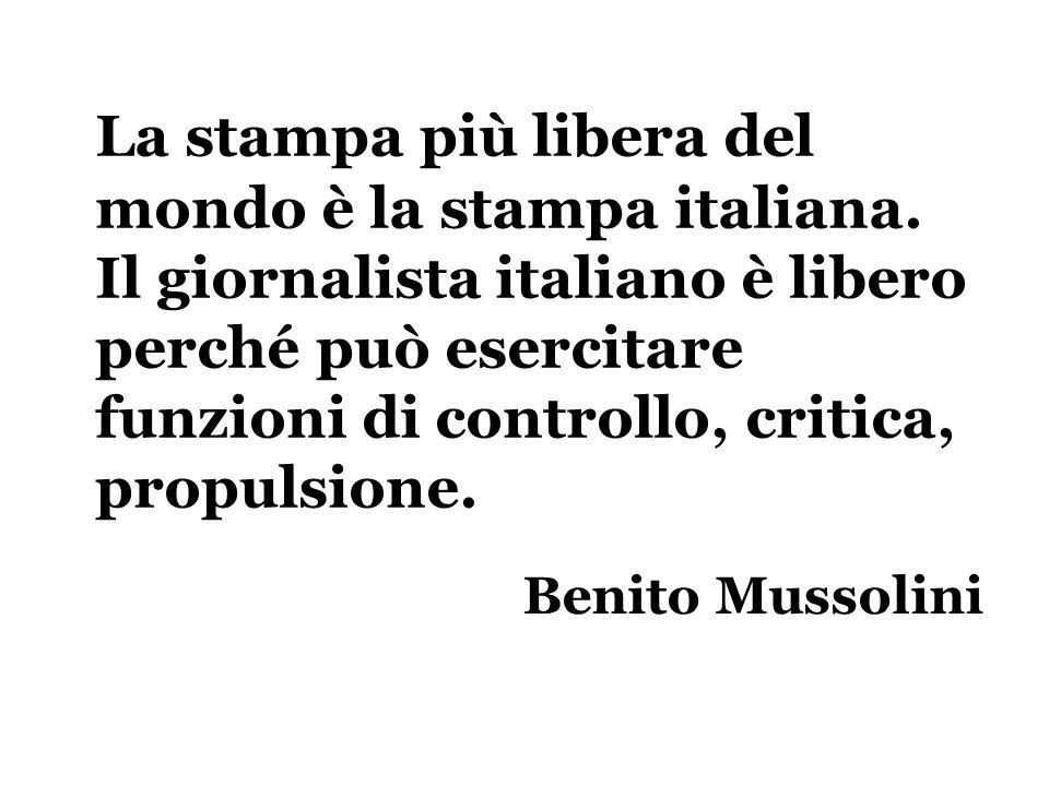 La stampa più libera del mondo è la stampa italiana