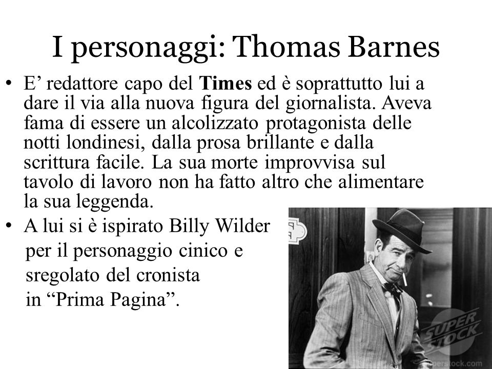 I personaggi: Thomas Barnes
