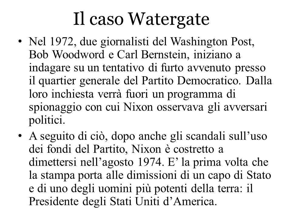 Il caso Watergate
