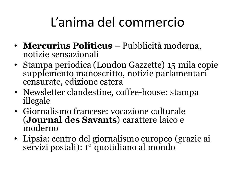 L'anima del commercio Mercurius Politicus – Pubblicità moderna, notizie sensazionali.