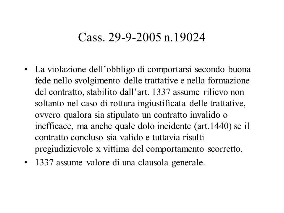 Cass. 29-9-2005 n.19024