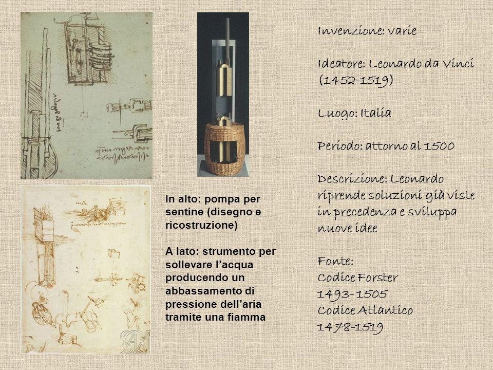 Ideatore: Leonardo da Vinci (1452-1519)