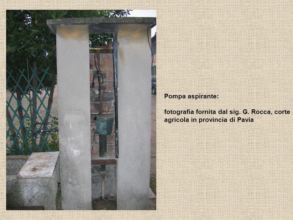 Pompa aspirante: fotografia fornita dal sig. G. Rocca, corte agricola in provincia di Pavia