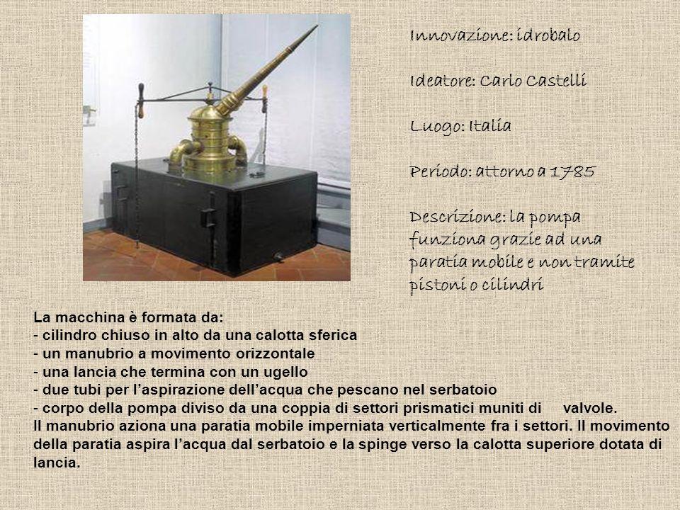 Innovazione: idrobalo Ideatore: Carlo Castelli Luogo: Italia