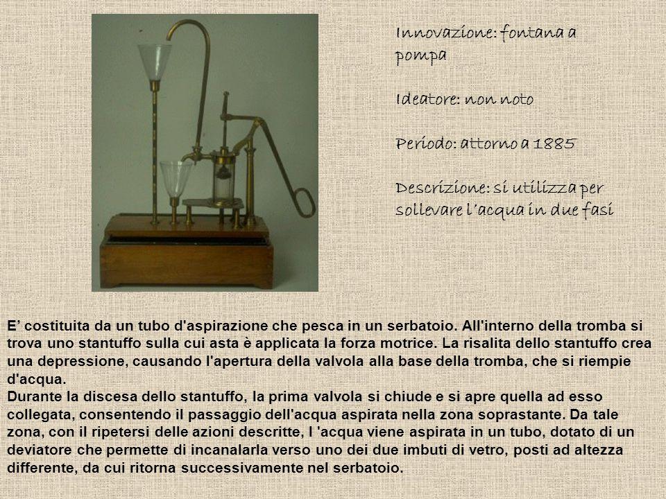 Innovazione: fontana a pompa