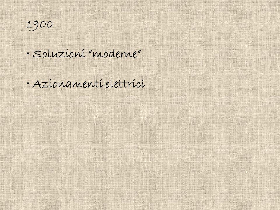 1900 Soluzioni moderne Azionamenti elettrici