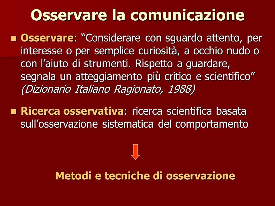 Osservare la comunicazione