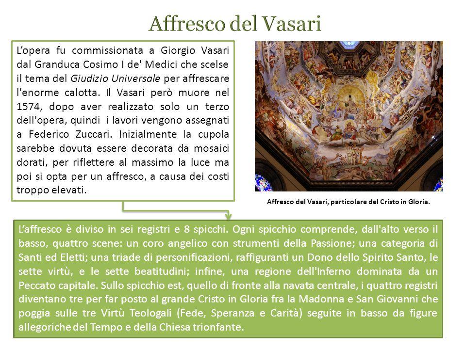Affresco del Vasari, particolare del Cristo in Gloria.