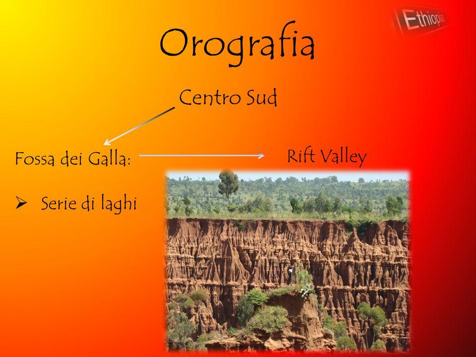 Orografia Centro Sud Fossa dei Galla: Serie di laghi Rift Valley