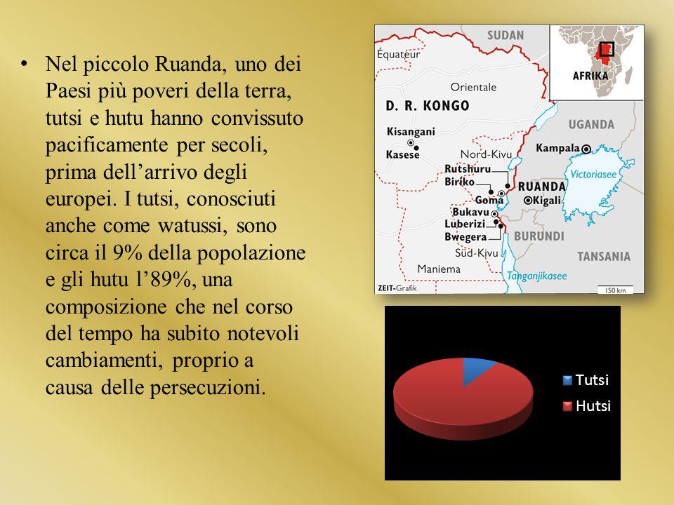Nel piccolo Ruanda, uno dei Paesi più poveri della terra, tutsi e hutu hanno convissuto pacificamente per secoli, prima dell'arrivo degli europei.