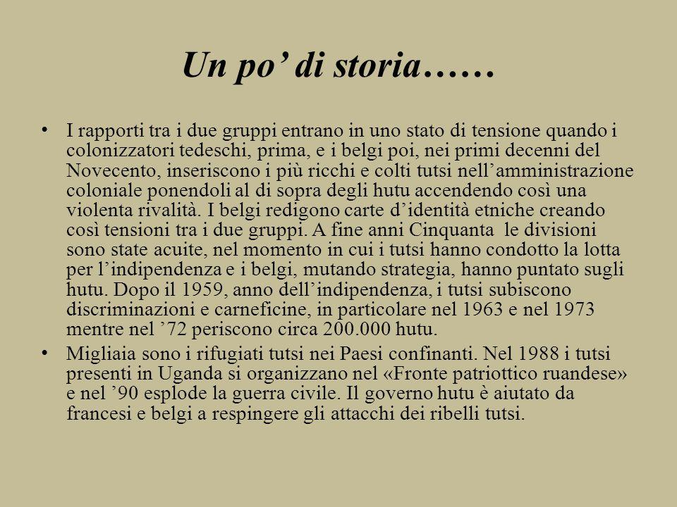 Un po' di storia……