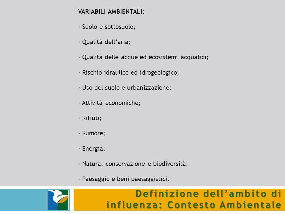 Definizione dell'ambito di influenza: Contesto Ambientale