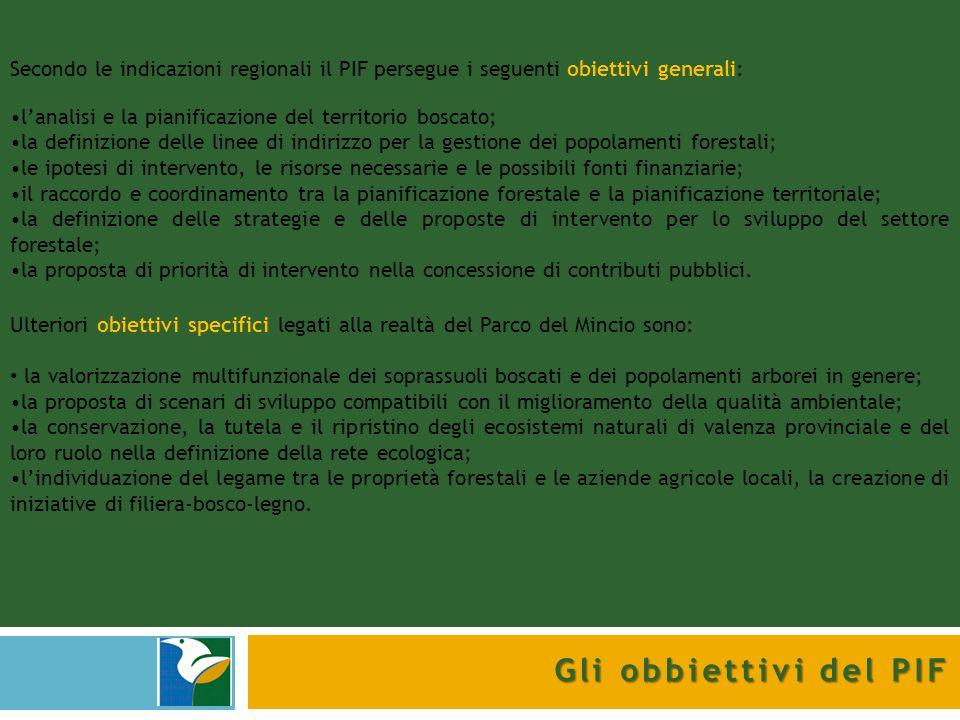 Secondo le indicazioni regionali il PIF persegue i seguenti obiettivi generali: