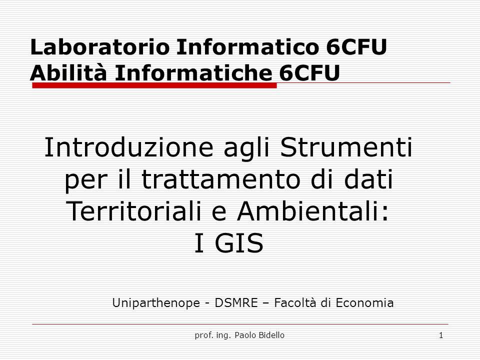 Laboratorio Informatico 6CFU Abilità Informatiche 6CFU