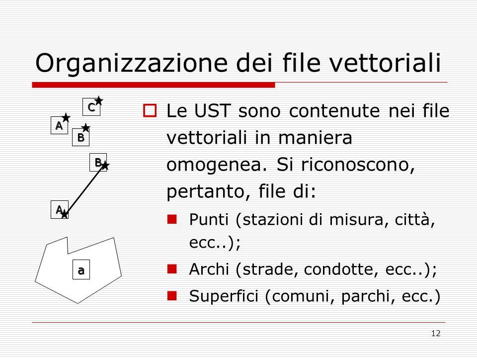 Organizzazione dei file vettoriali