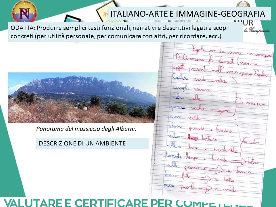 ITALIANO-ARTE E IMMAGINE-GEOGRAFIA