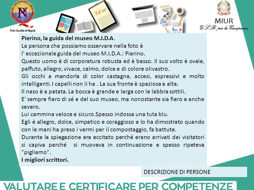 Pierino, la guida del museo M.I.D.A.