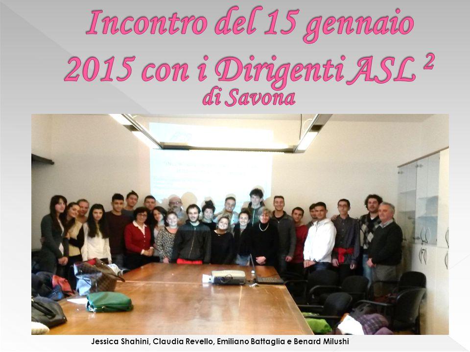 Incontro del 15 gennaio 2015 con i Dirigenti ASL 2 di Savona