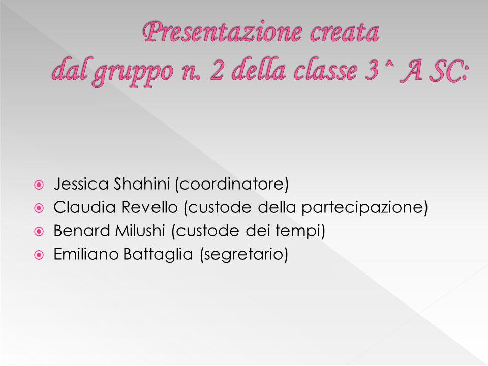 Presentazione creata dal gruppo n. 2 della classe 3^ A SC:
