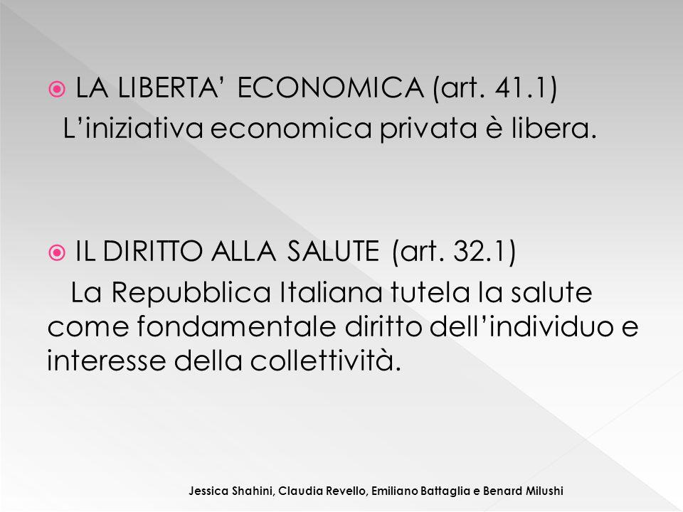 LA LIBERTA' ECONOMICA (art. 41.1)