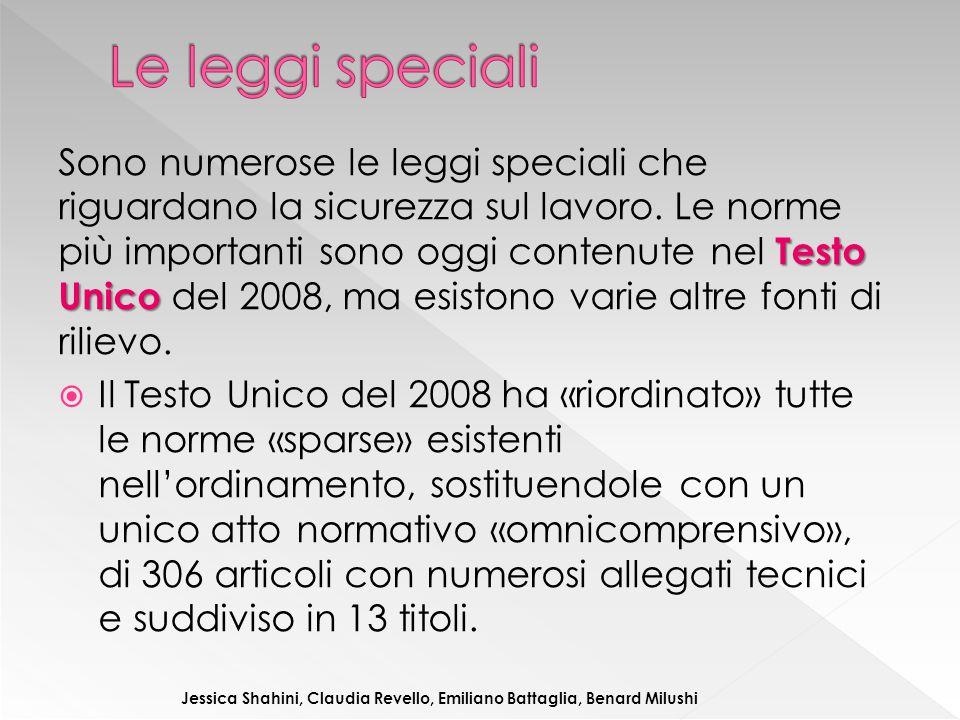 Le leggi speciali