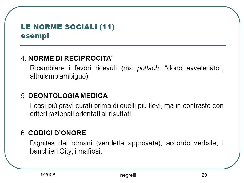 LE NORME SOCIALI (11) esempi