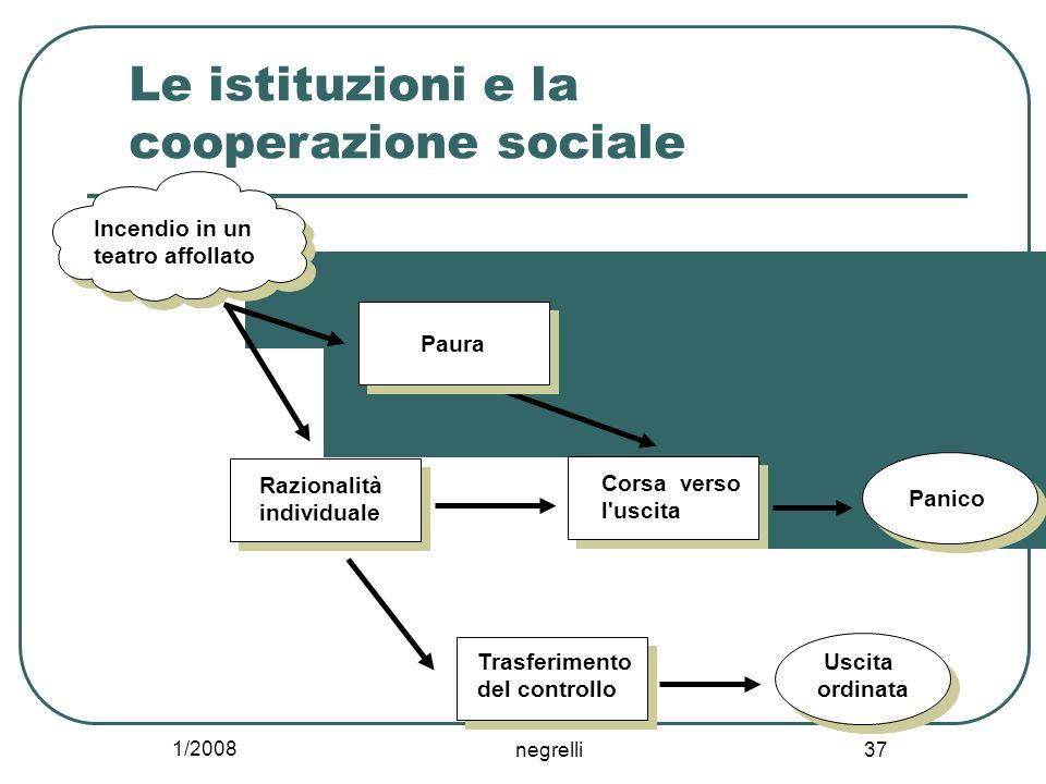 Le istituzioni e la cooperazione sociale