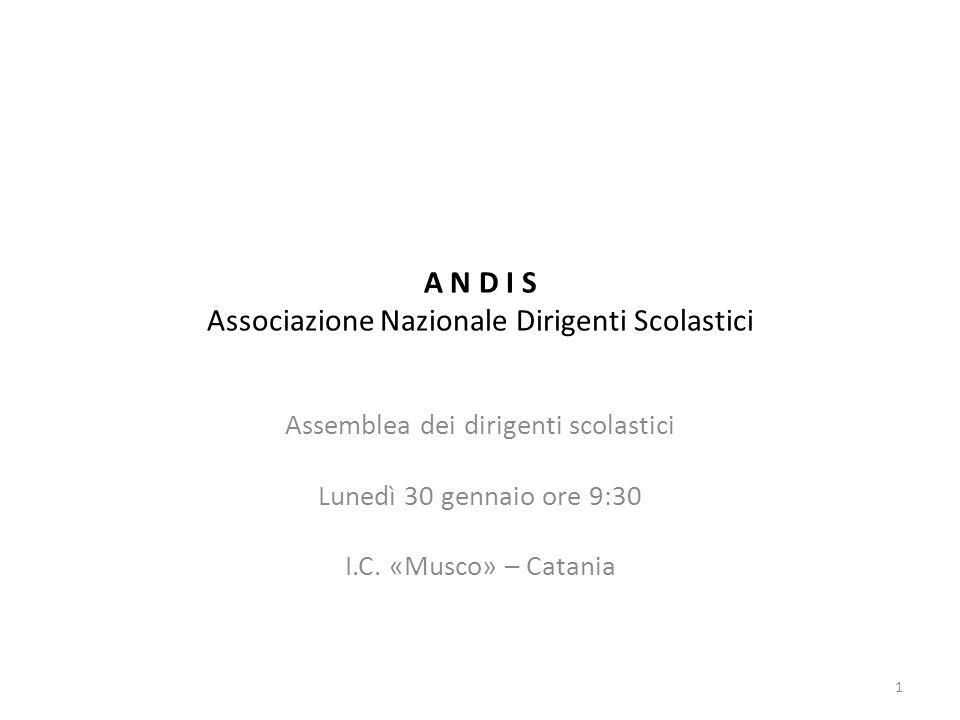 A N D I S Associazione Nazionale Dirigenti Scolastici