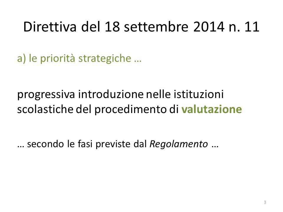 Direttiva del 18 settembre 2014 n. 11