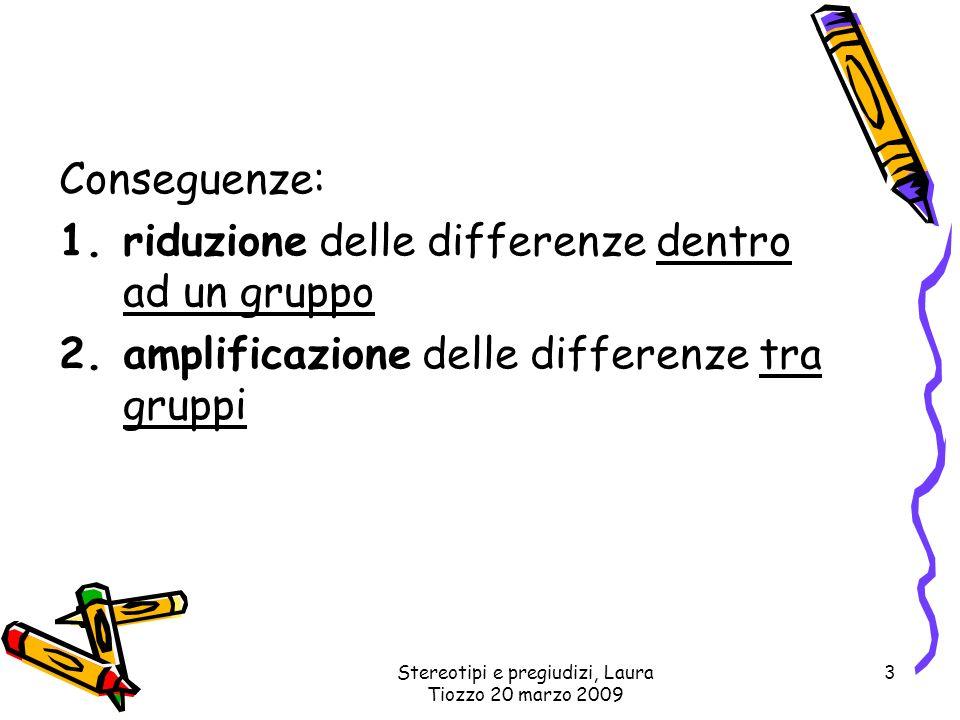 Stereotipi e pregiudizi, Laura Tiozzo 20 marzo 2009