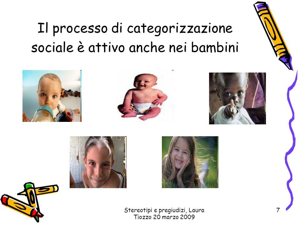 Il processo di categorizzazione sociale è attivo anche nei bambini