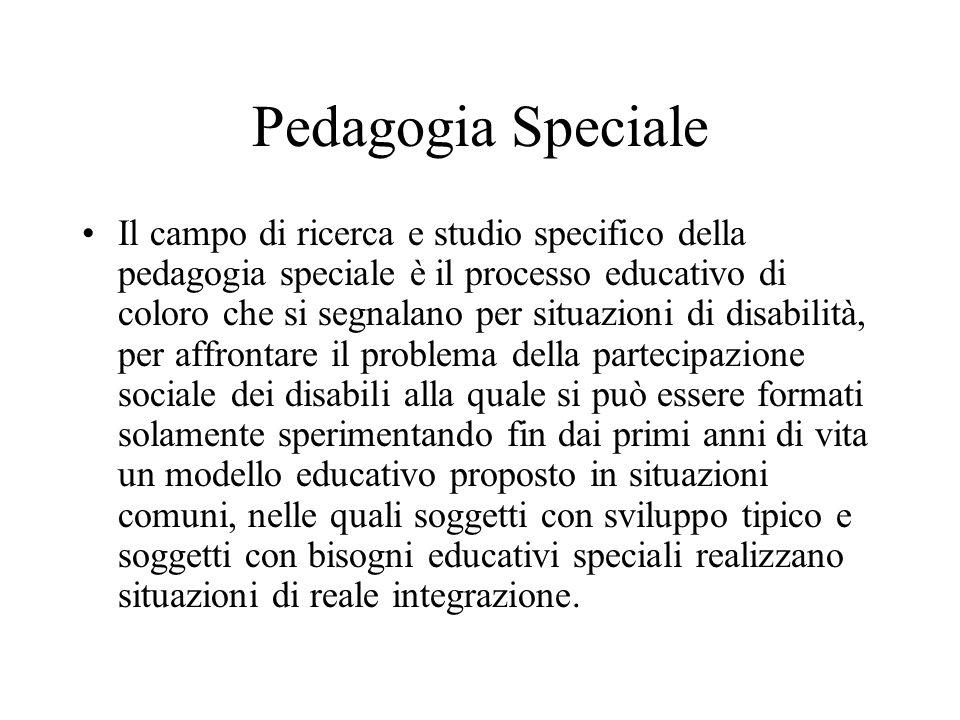 Pedagogia Speciale