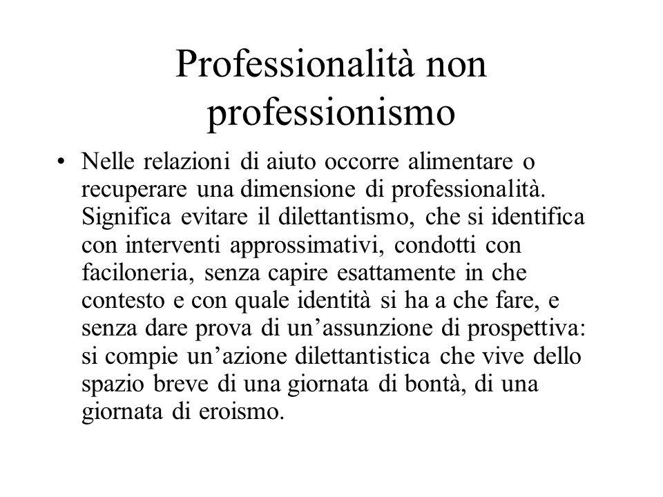 Professionalità non professionismo