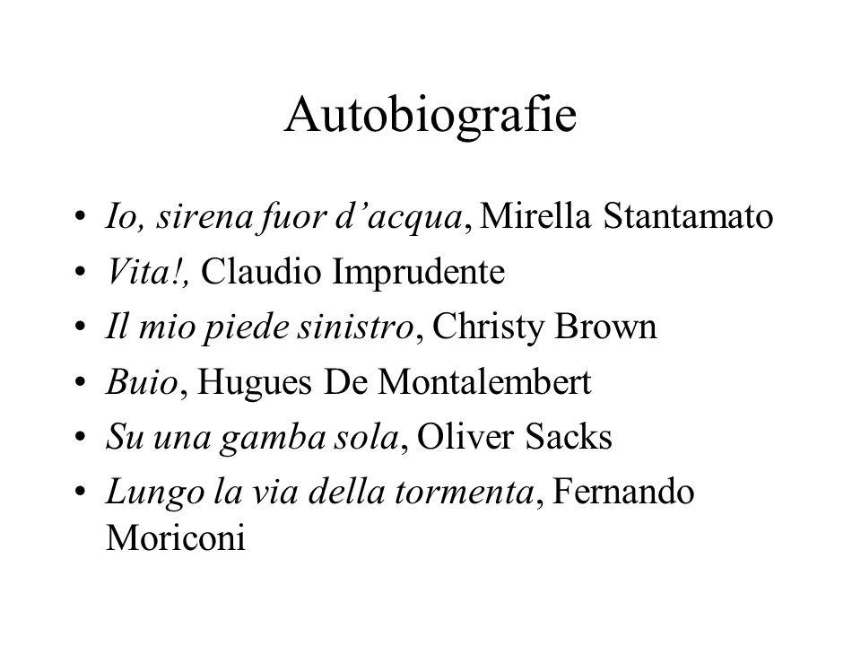 Autobiografie Io, sirena fuor d'acqua, Mirella Stantamato