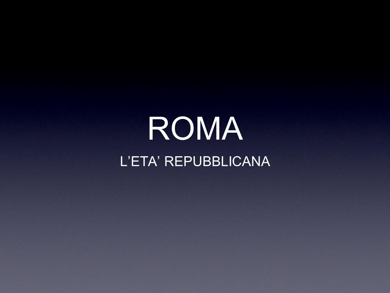 ROMA L'ETA' REPUBBLICANA