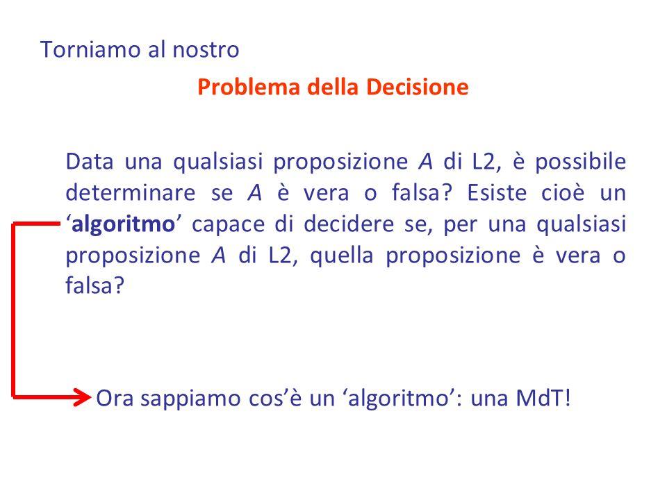 Problema della Decisione