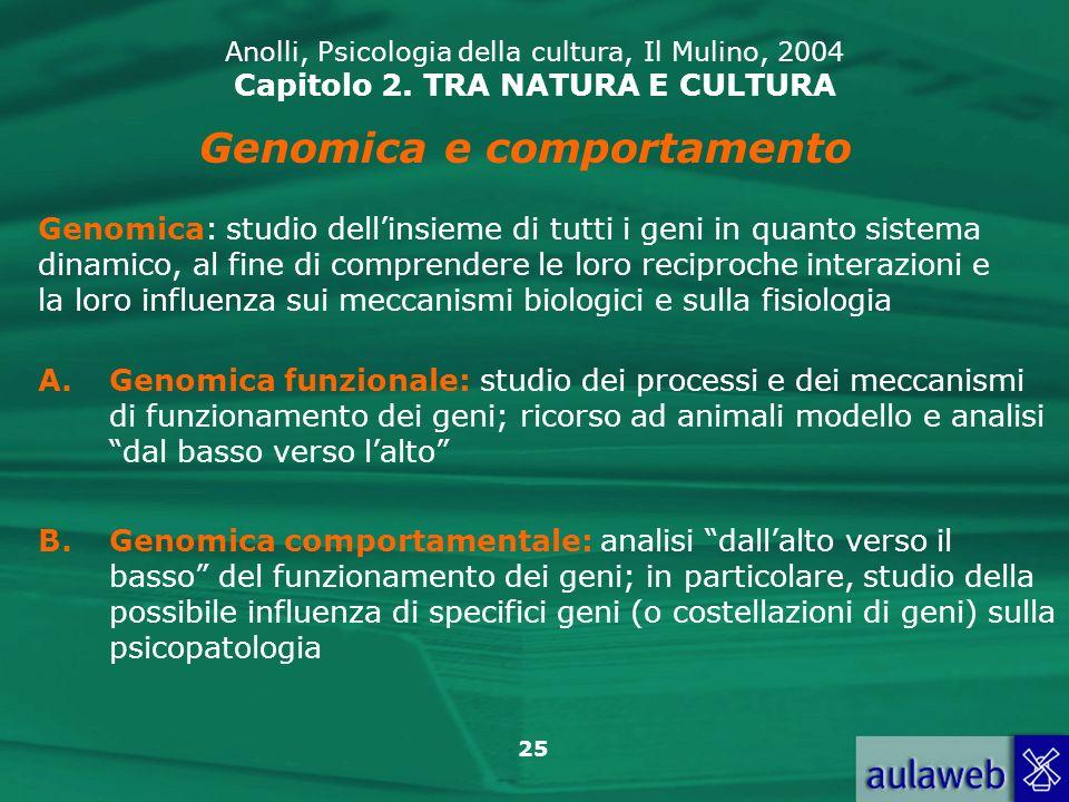 Genomica e comportamento