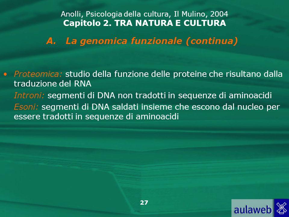 La genomica funzionale (continua)