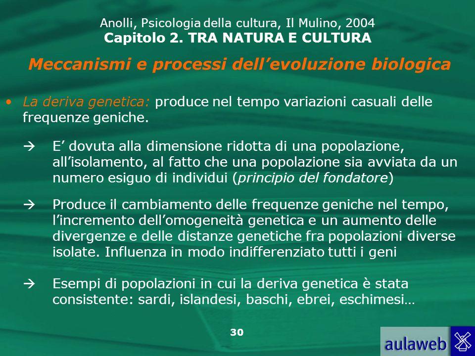 Meccanismi e processi dell'evoluzione biologica