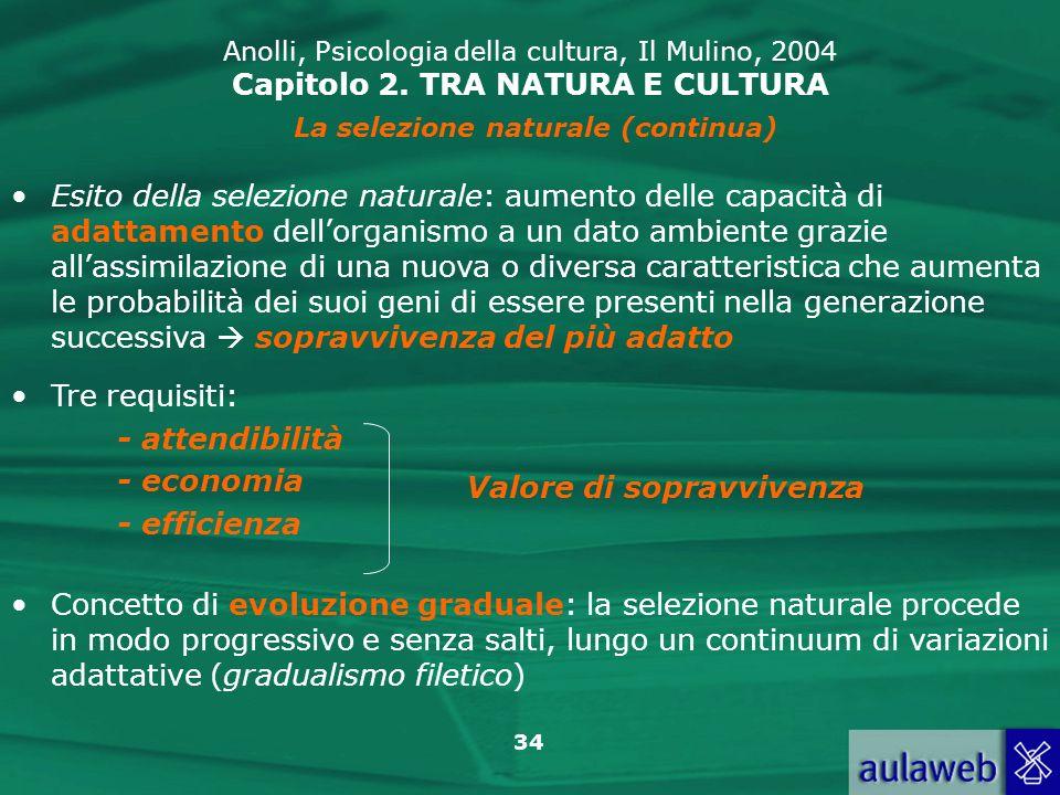 La selezione naturale (continua)