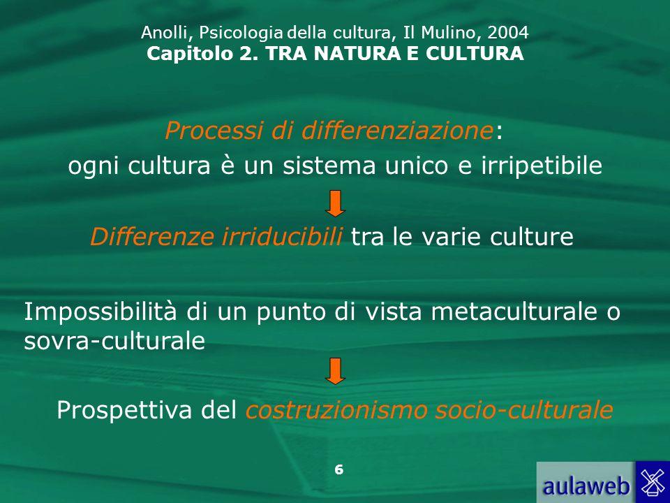 Processi di differenziazione: