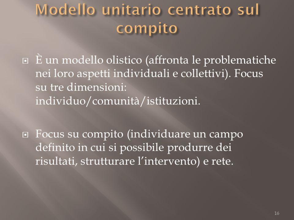 Modello unitario centrato sul compito