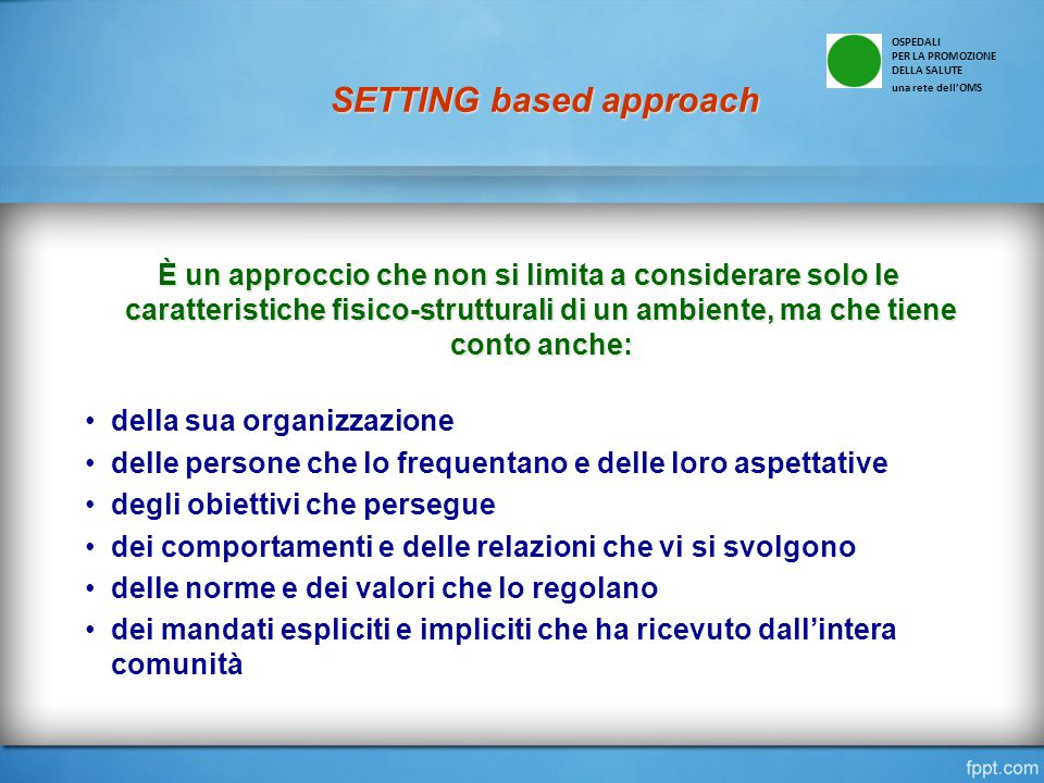 SETTING based approach