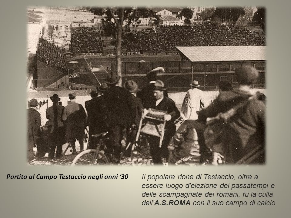 Partita al Campo Testaccio negli anni '30
